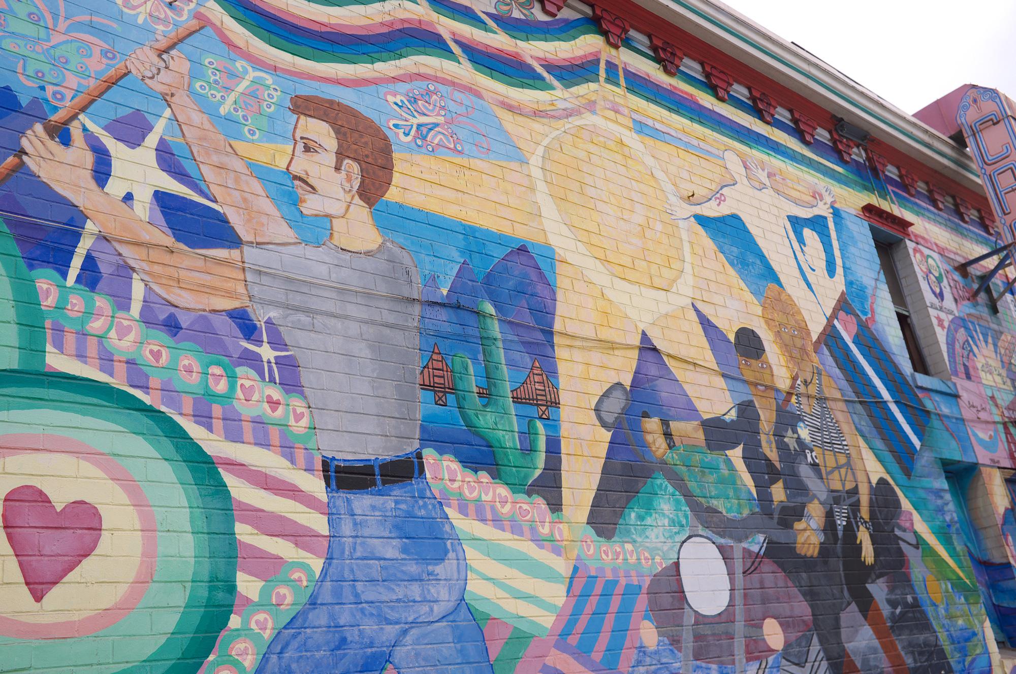 Vægmaleri i San Francisco-kvarteret Castro
